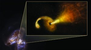 Arp 299 supermassive black hole eating a star