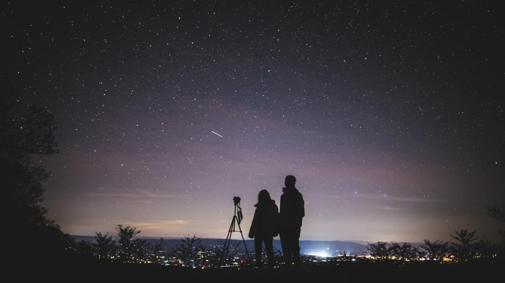 stargazing with friends