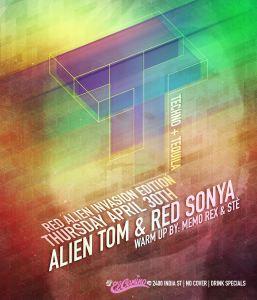 Red Alien Invaion Techno And Tequila El Camino