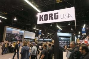 NAMM Show 2018 Korg Booth