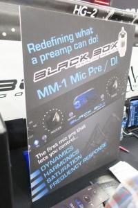 Coming soon the Black Box MM-1 Mic Pre / DI