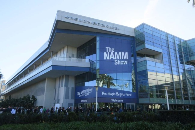 Anaheim Convention Center NAMM 2019 building