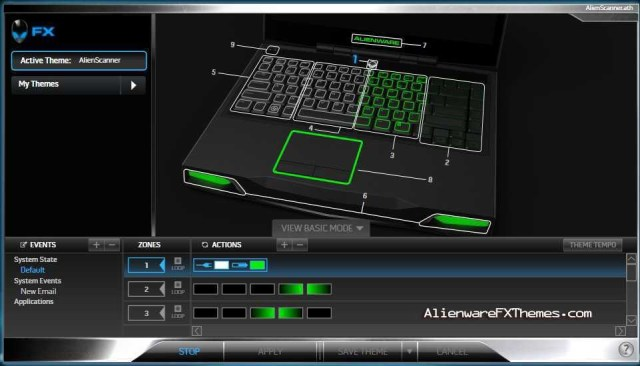 AlienScanner M14x Alienware FX Theme
