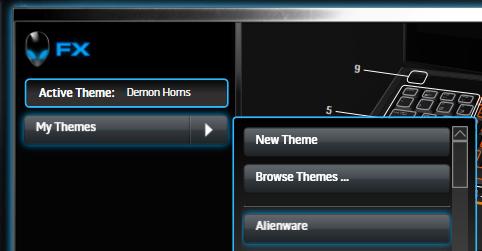 Alienware FX Theme Select Drop Down