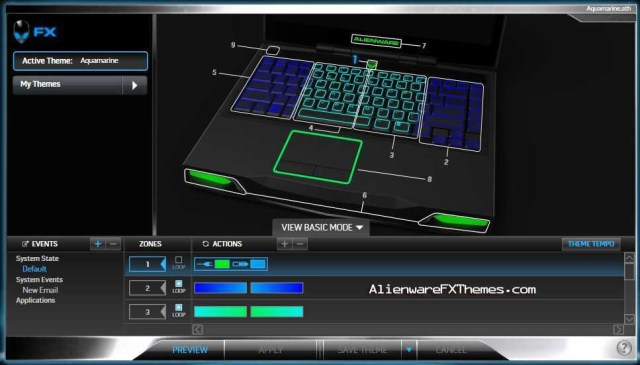 Aquamarine M14x Alienware FX Theme