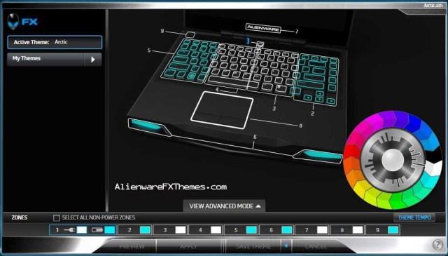 ArcticAFX M14x Alienware FX Theme
