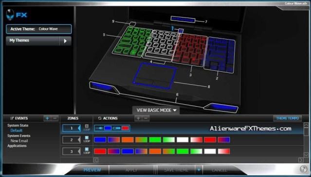 Colour Wave M14x Alienware FX Theme