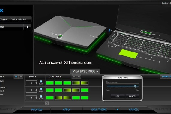 Critical Infected M18x Alienware FX Theme
