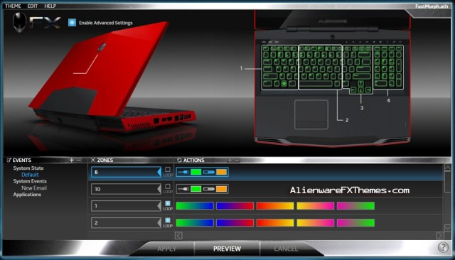 FastMorph M17x Alienware FX Theme