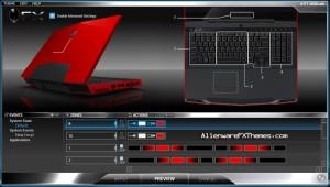 KITT 3000 M17x Alienware FX Theme