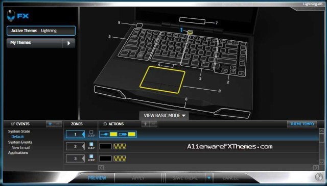 Lightning M14x Alienware FX Theme