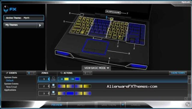 Myrth M14x Alienware FX Theme