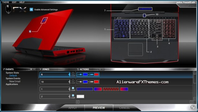 Police Freeze 2 M17x Alienware FX Theme