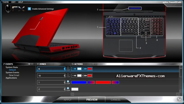 Police Freeze 3 M17x Alienware FX Theme