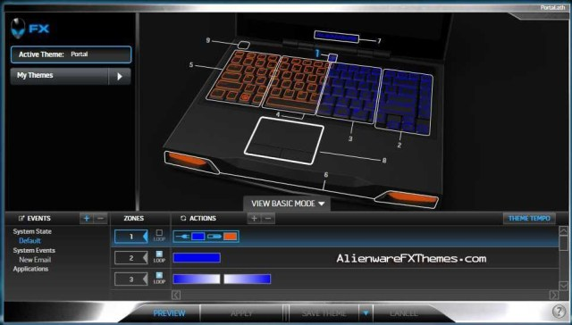 Portal M14x Alienware FX Theme