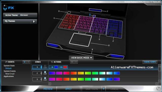 Rainbow Keyboard 2 M14x Alienware FX Theme