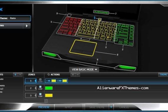 Rasta M14x Alienware FX Theme