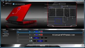 Blue Morph M17x Alienware FX Theme