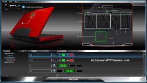 Green Morph M17x Alienware FX Theme