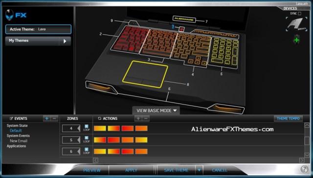 Lava M17x R3 R4 Alienware FX Theme 2