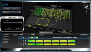 Radioactive Flow M17x R3 R4 Alienware FX Theme