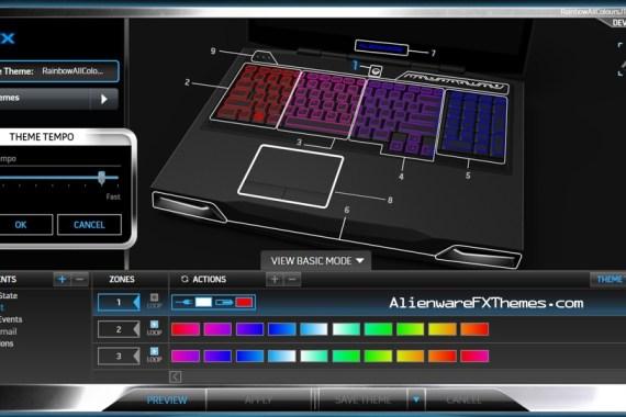 Rainbow All Colours JT M17x R3 R4 Alienware FX Theme