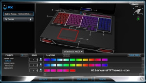 Rainbow All Colours  M17x R3 R4 Alienware FX Theme 2