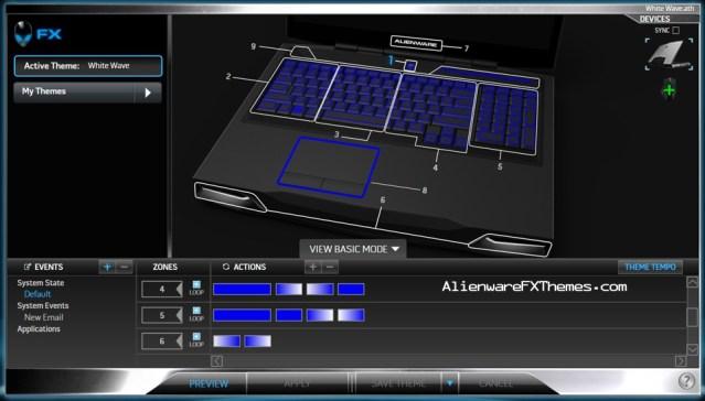 White Wave M17x R3 R4 Alienware FX Theme 2