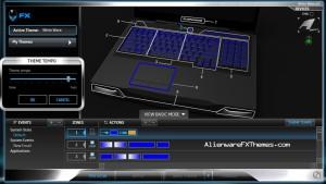 White Wave M17x R3 R4 Alienware FX Theme