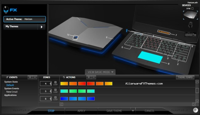 Horizon by Lizara 14 Alienware FX Theme