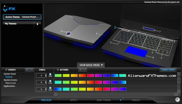 Rainbow Morph Advanced by iDecryption Alienware 14 FX Theme