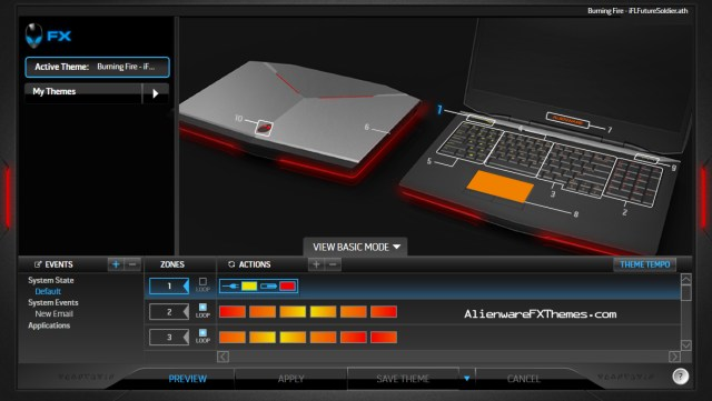 Burning Fire by iFL_FutureSoldier Alienware 17 Fx Theme