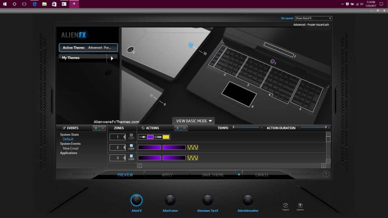 Advanced Purple Hazard By Superhtm Alienware 17 R4 Fx Theme