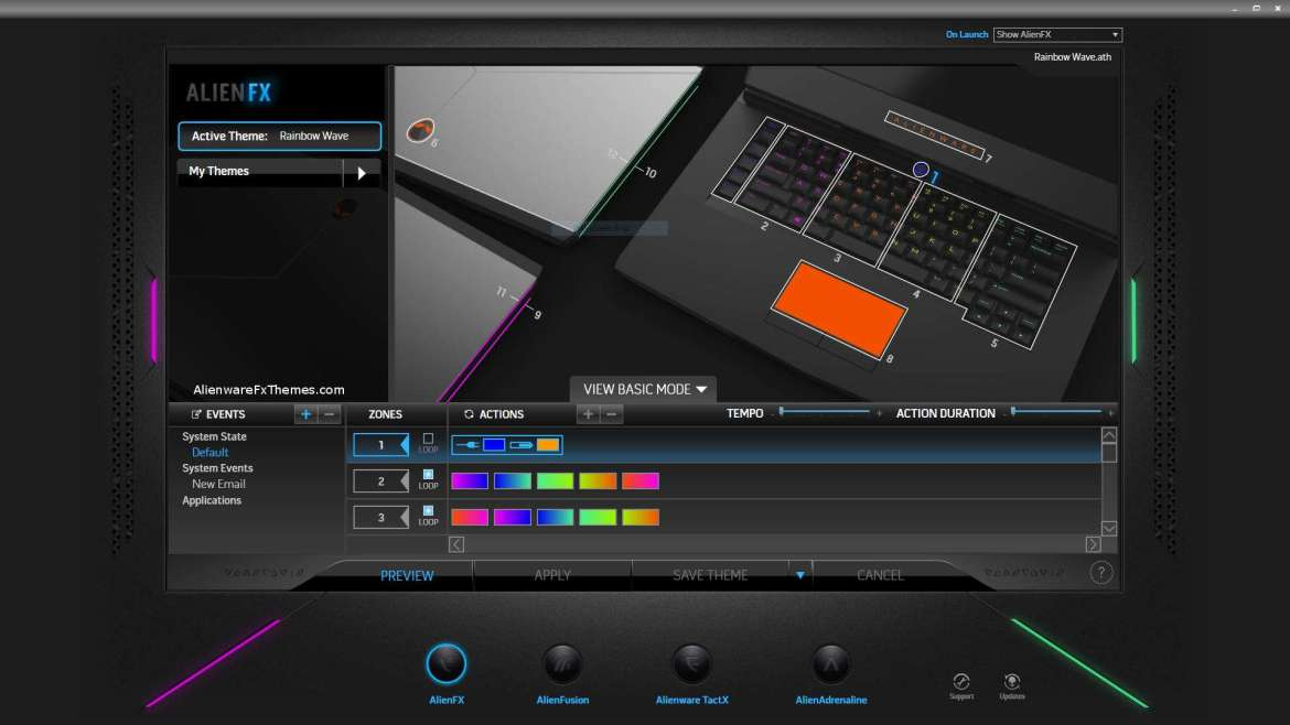 Rainbow Wave By Steve Alienware 15 R3 Fx Theme