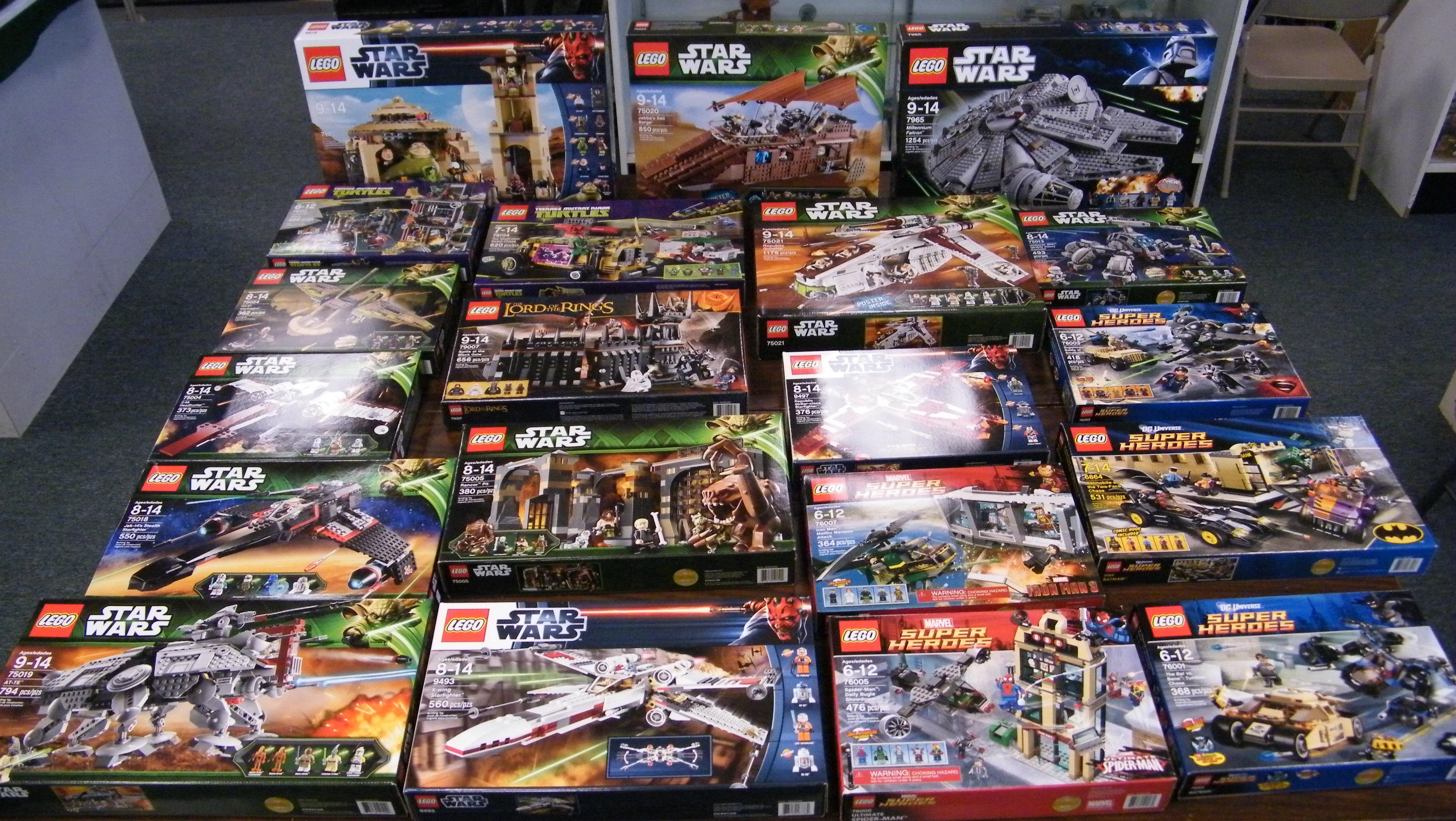 Legos Star Wars Marvel Tmnt Lotr Alien Worlds
