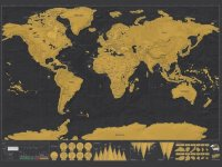 Mapa del mundo Scratch Off World Travel