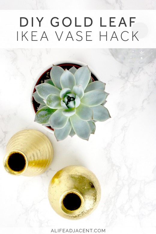 IKEA vase set with DIY gold leafing