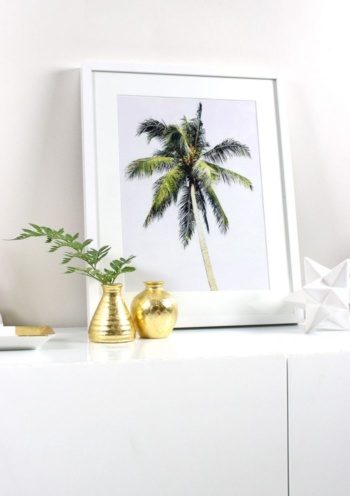 DIY Framed Tropical Prints (+ Free Printable!)