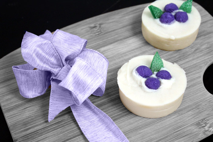 Simple beginner soap recipe with lavender and fir needle essential oils