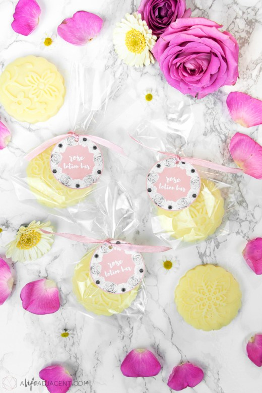 Printable labels for DIY lotion bars
