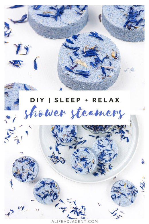 DIY shower steamers for sleep and relaxation
