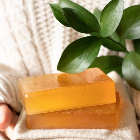 DIY Honey Almond Soap with Wheatgerm
