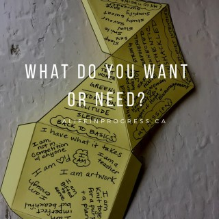 What Do You Want or Need?