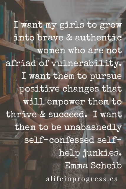 I am ditching the guilt and shame that hold me back from wanting to improve myself. I am worth it. I am a self-confessed self-help junkie.