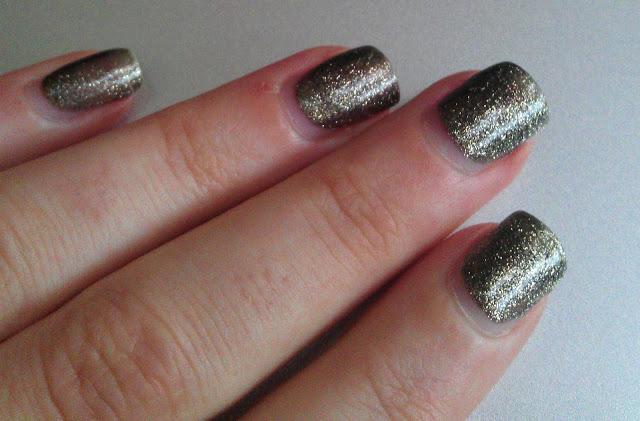 Charcoal Shimmer Nails