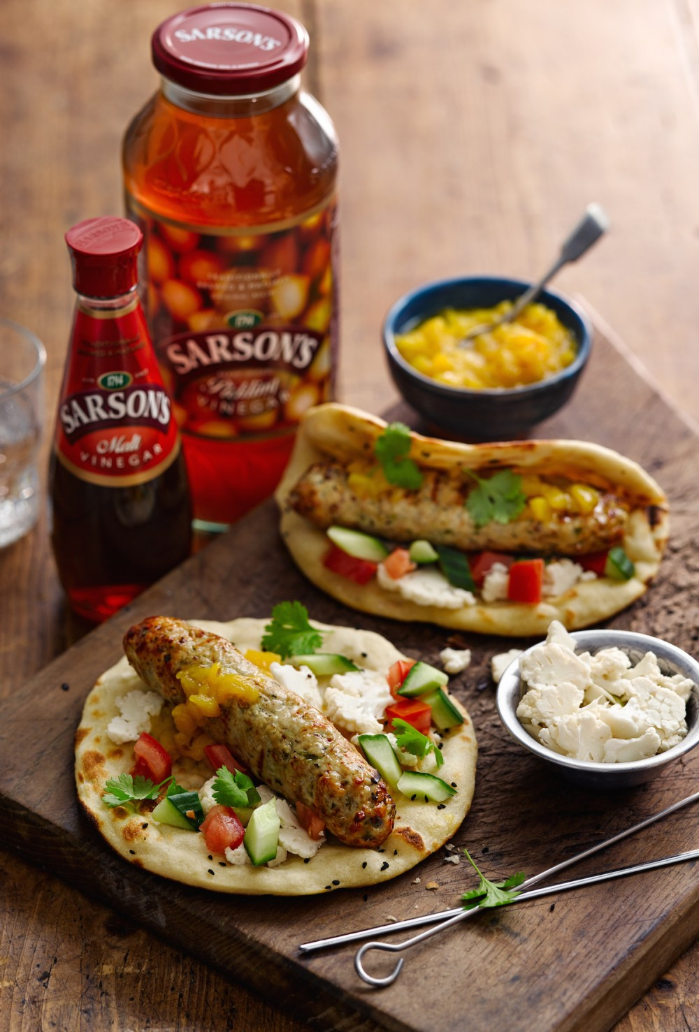 Chicken Seekh Kebab with Malted Mango Chutney