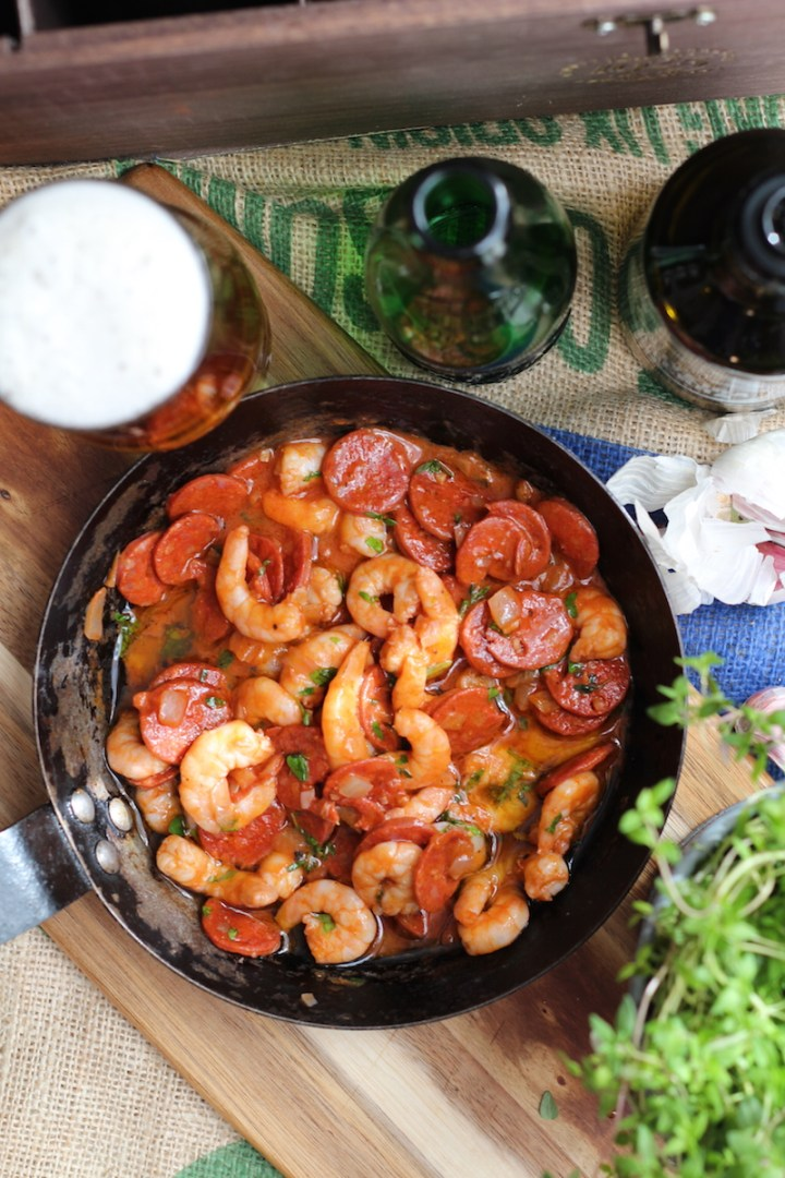 Prawn and chorizo tapas recipe