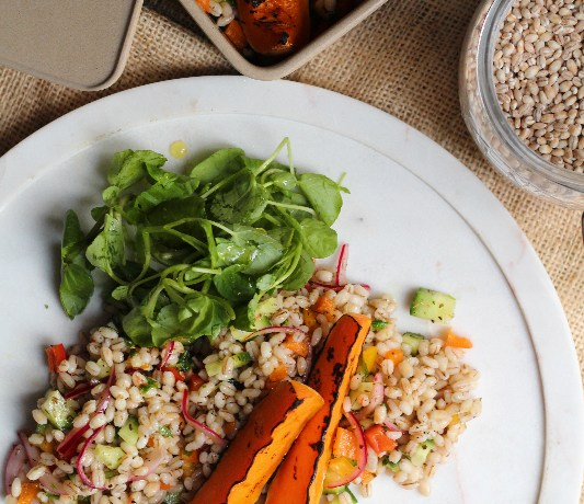 Simple Pearl Barley Salad (& A GIVEAWAY)