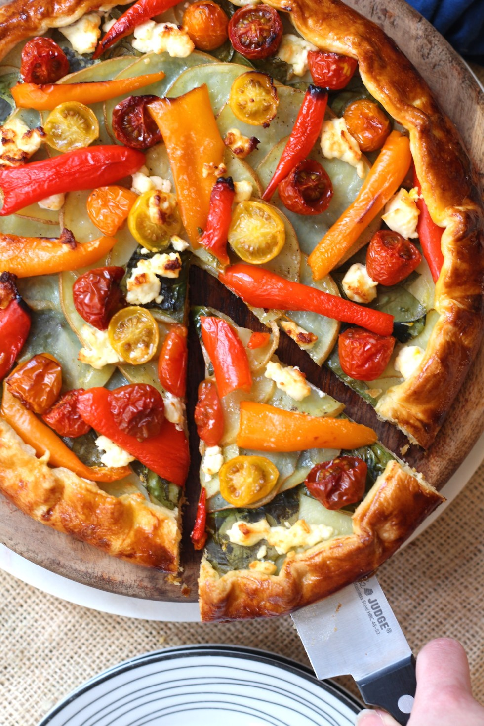 Looking for an easy meal? Try this Mediterranean Galette