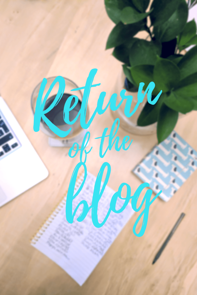 Return of the blog